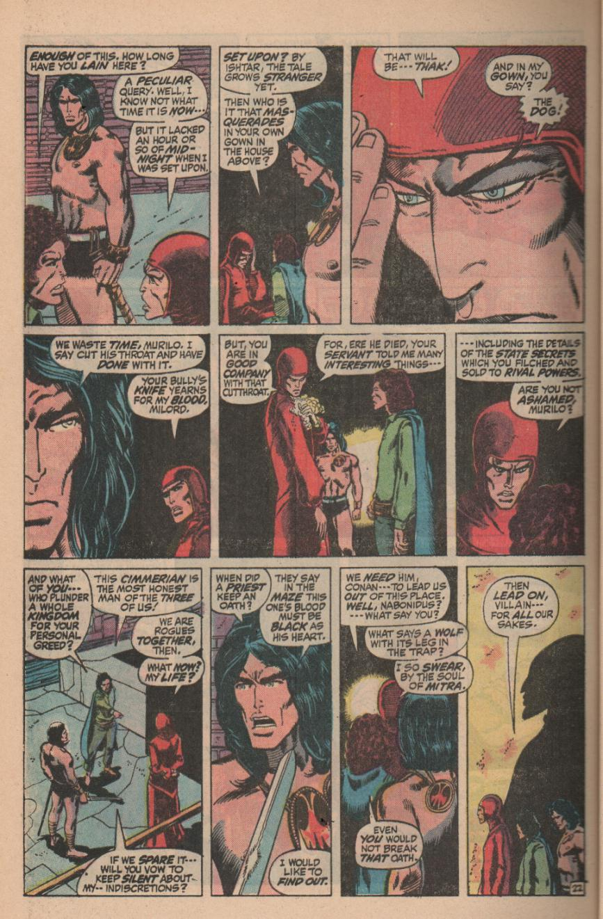 Conan the Barbarian (1970) Issue #11 #23 - English 30
