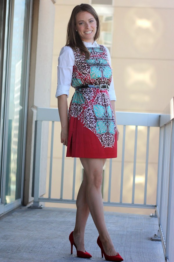 thrifted refashioned silk dress - DIY tutorial and wear it six ways - www.fashionablyemployed.com