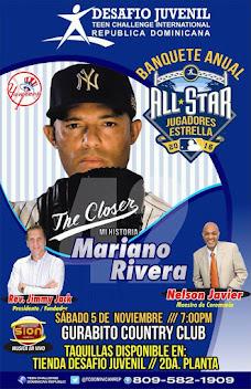 """Mariano Rivera estara en el Banquete """" ALL STAR"""" del ministerio Desafio Juvenil"""