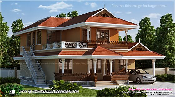 2466 sq-ft beautiful Kerala house