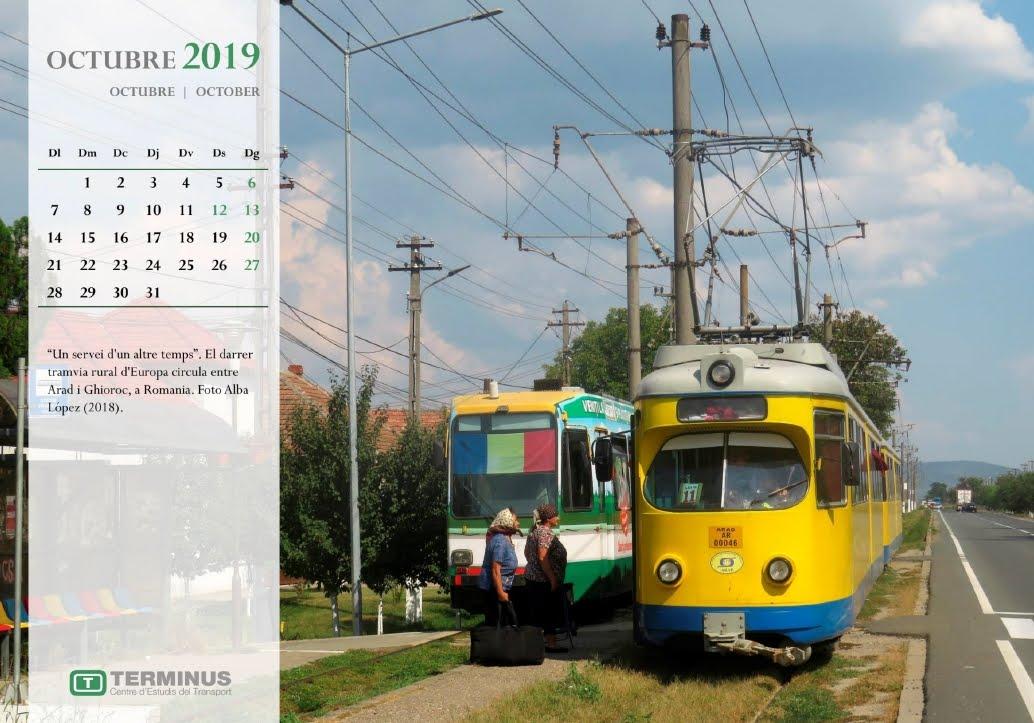 Calendari - Octubre del 2019