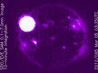Llamarada solar X1.0 - 5 de Marzo de 2012