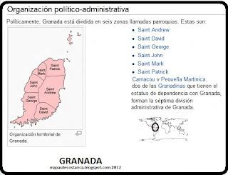 organización territorial de GRANADA