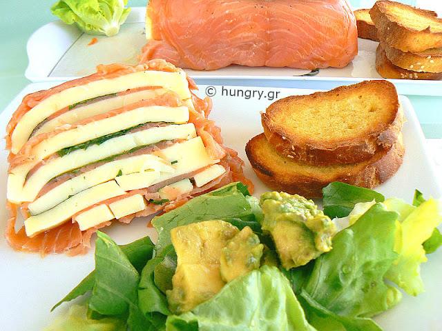 Smoked Salmon and Mozzarella Terrine