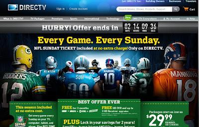 Directv homepage