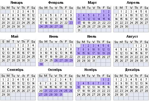 Календарь ретроградности Меркурия на 2013 год