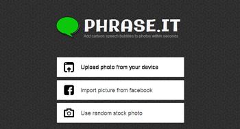 Agregar burbujas de comentarios a tus fotos con Phrase.it