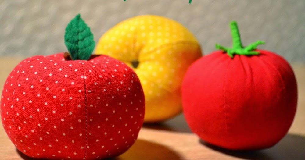 Сшить яблоки из ткани 21