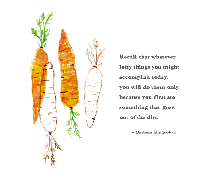 Barbara Kingsolver quote; illustration by Lauren Monaco