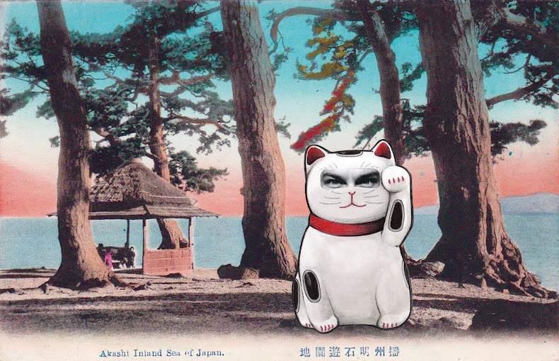 Maneki Neko Kokimoto in Akashi Inland Sea of Japan, 2016. Giclee print, Edition of 25, 33x49 cm