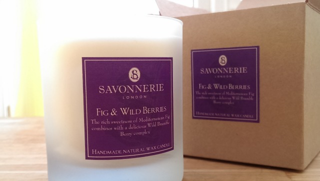 Savonnerie fig and wild berry candle