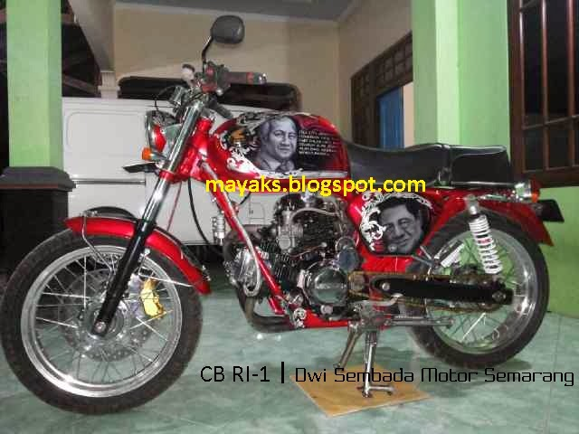 modifikasi honda CB RI-1,modifikasi honda cb, foto cb v twin, cb mesin scorpio, cb scorpio semarang