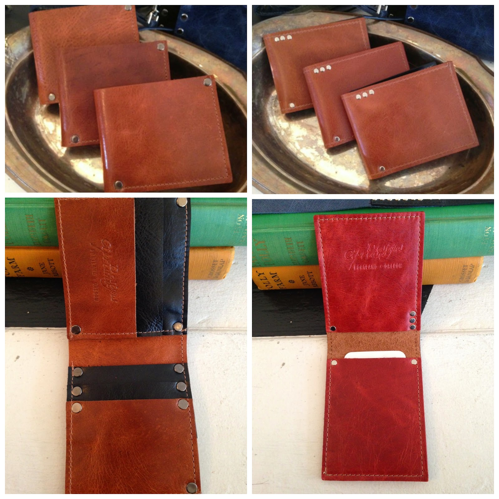 Leather wallets by Cipriano Designs at Folly