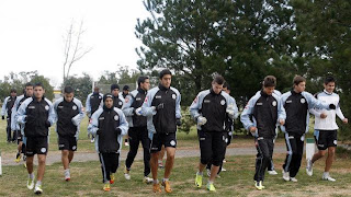 Entrenamiento de Belgrano de Cordoba en Necochea
