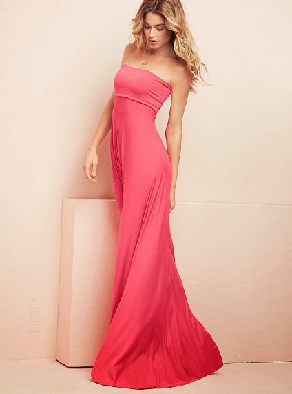 Foldover Strapless Maxi Dress