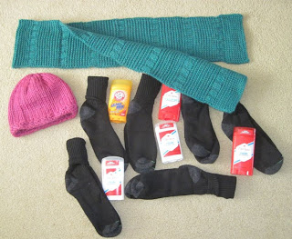 socks and knitting for homeless