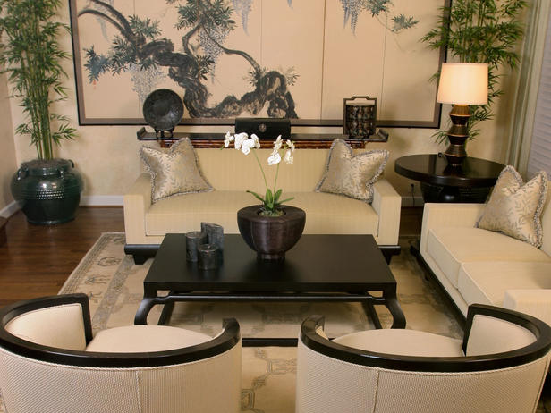 Modern furniture asian living rooms for Asian room decoration