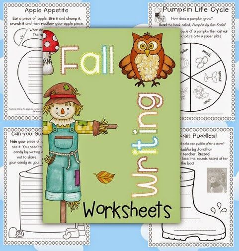 Fall Writing Worksheets {about Fall, Word Work and Reading Response}