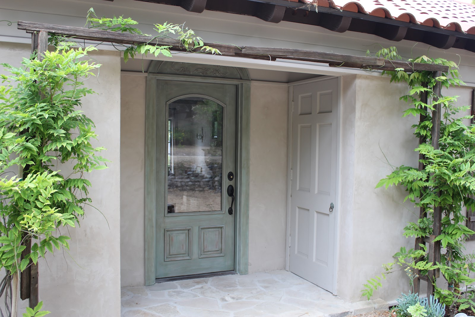 european farmhouse charm my recycled front door makeover