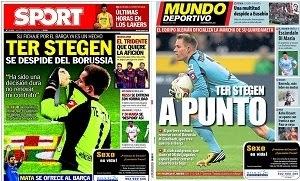 La prensa catalana da por hecho el fichaje de Ter Stegen por el Barça