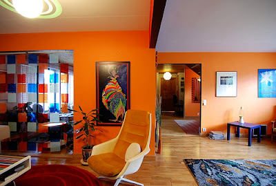 Orange Living Room Ideas on Orange Living Room
