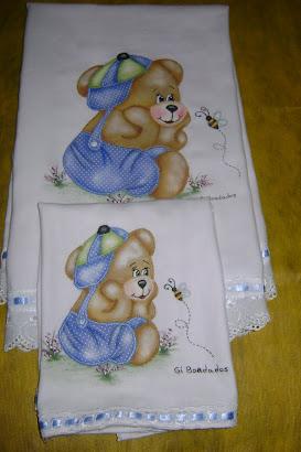 Manta e fralda de boca em tecido de cueiro
