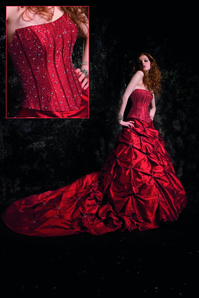 Amazing Red color Wedding Dress