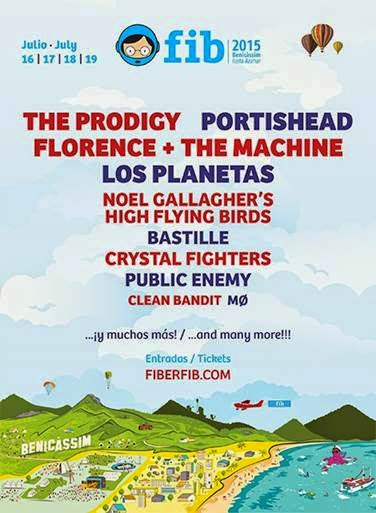 Benicassim Headliners Prodigy, Portishead, Florence, Noel Gallagher