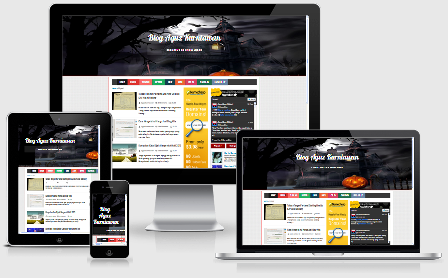 Pokoe Colorfull Responsive Blogger Templates