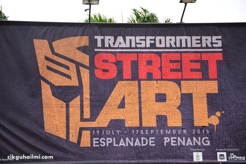 Penang Street Art 2015 : Transformers Serang Padang Kota, Pulau Pinang