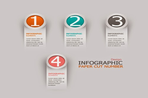 Video Tutorial : Graphic Design | Infographic Paper Cut Number