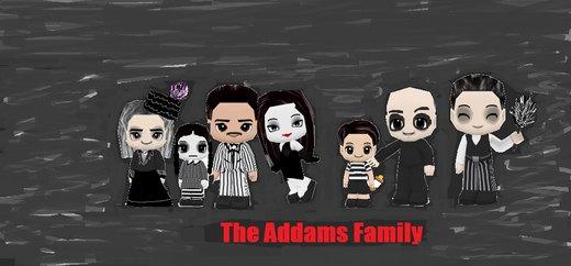 The Addams Family por GoddessofSong
