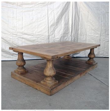 Cat Chic Restoration Hardware 39 S Balustrade Salvaged Wood Coffee Table