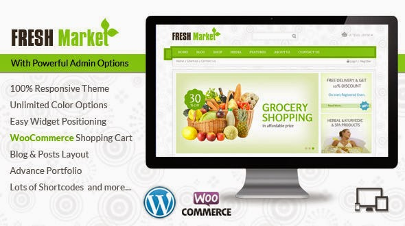 Fresh Market – Grocery WordPress Theme