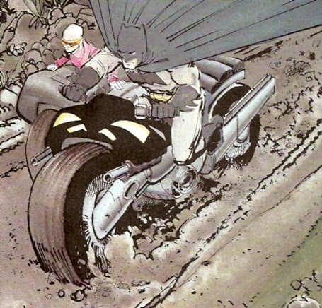 Batman tumbando aguja