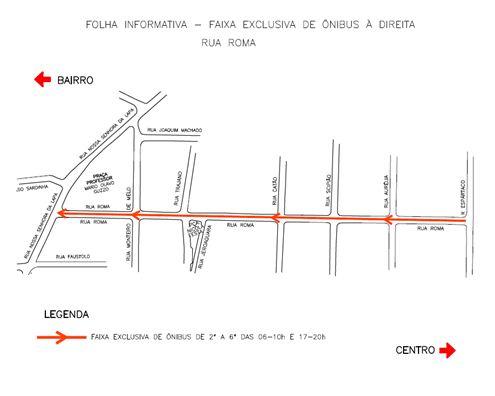 Operação Dá Licença Para o Ônibus - Faixa Exclusiva de Ônibus à Direita - Rua Roma