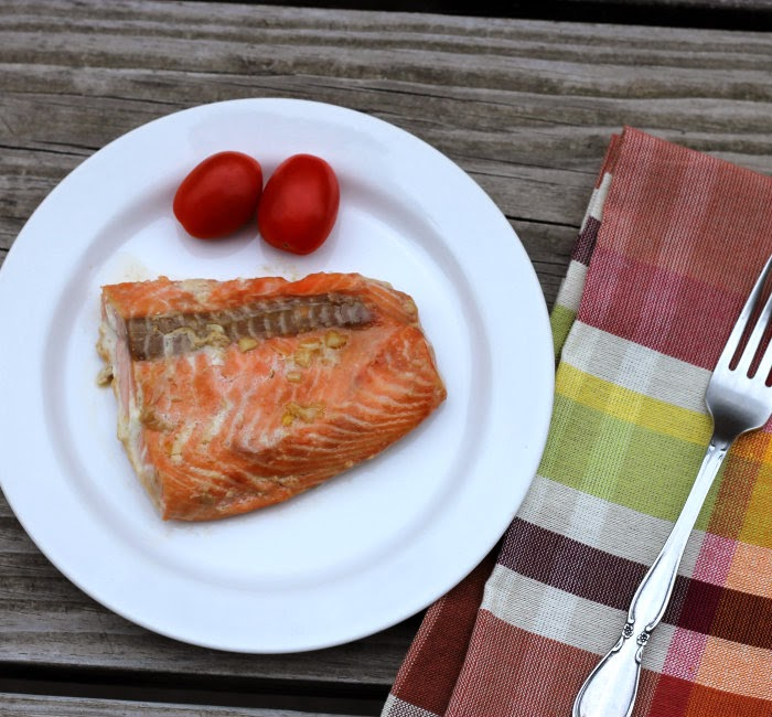 baked salmon with honey-soy marinade
