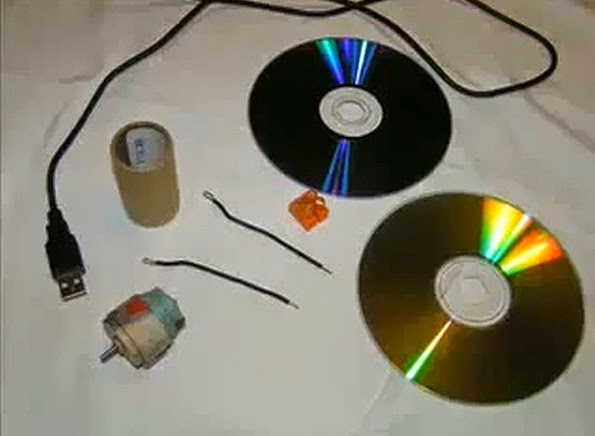 http://www.funmag.org/tips-and-tricks/how-to-make-a-fan-from-old-cd/