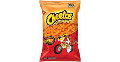 Los Cheetos se queman lentamente como una antorcha