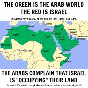Israel é 0,4% do Médio Oriente