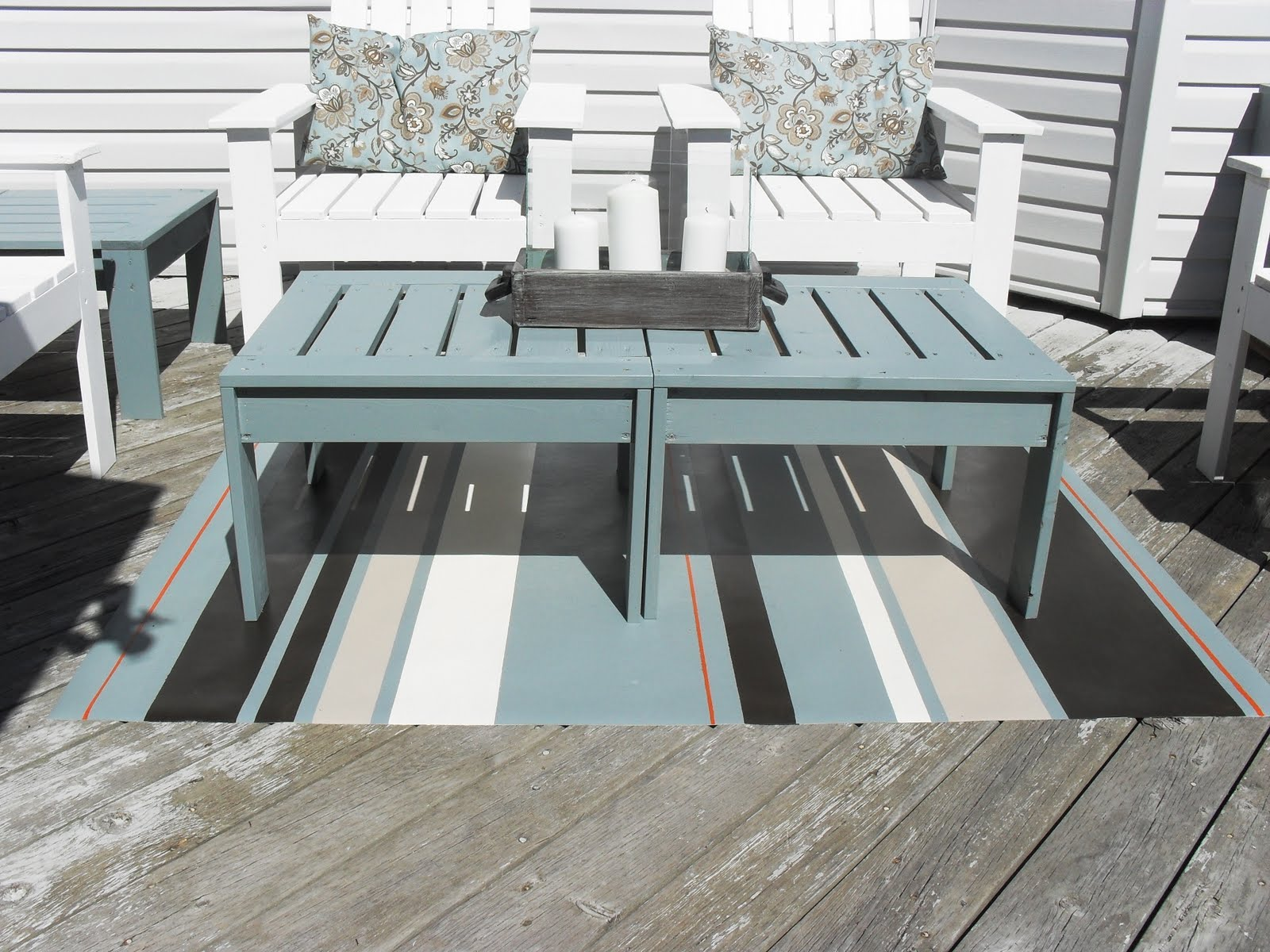 Home Frosting Outdoor Floorcloth