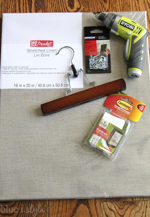 Supplies for Pant Hanger Art Display