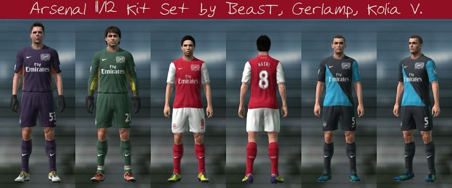 Arsenal 11/12 Kit Set