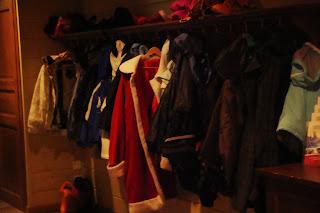 Santa coat in cloak room