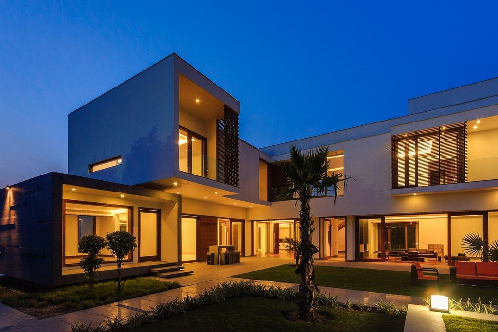 Modern farmhouse by dada partners in new delhi india for Nice modern house plans