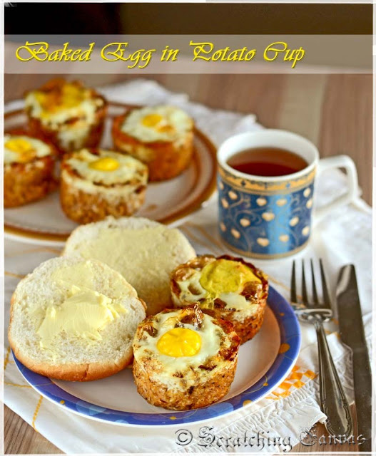 Baked Egg In Cheesy Potato cup
