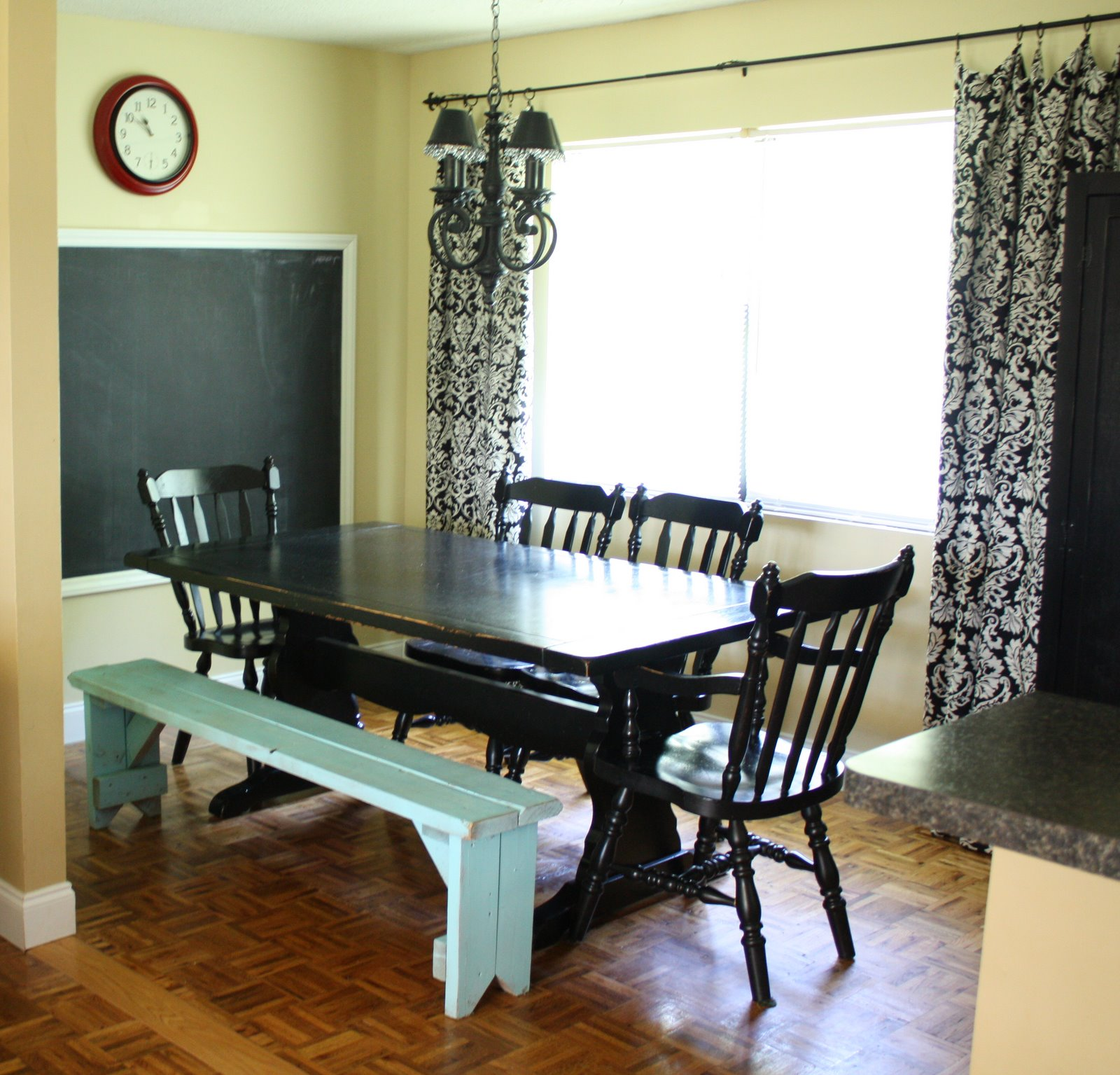 It 39 s just laine our dining room a k a where we have for Homeschool dining room ideas