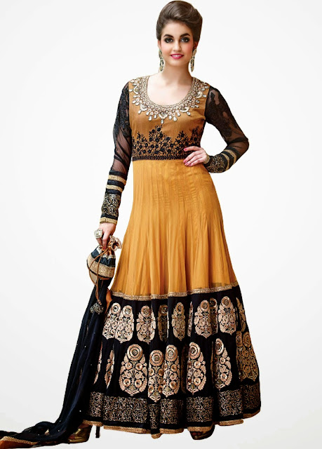 Indian Designer Long Anarkali Churidar Dresses 2015