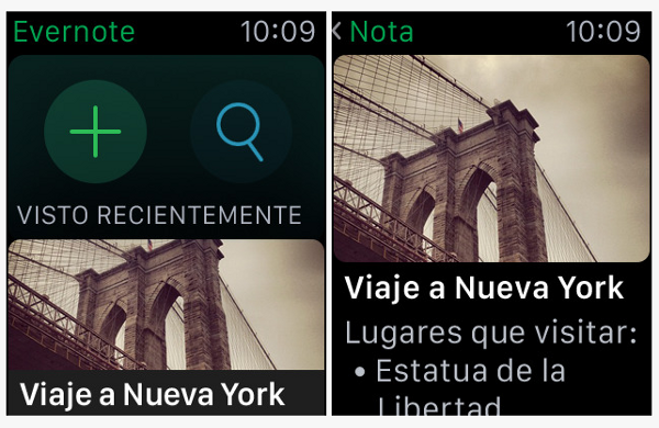 Evernote para Apple Watch