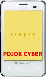 Ponsel LG dalam Mode Emergency